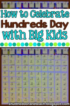 Try these fun hundredth day of school activities for kids in grade! Your students will love the fun multiplication contest and you'll love the test prep. Read at Shut the Door and Teach. Upper Elementary Resources, Elementary Math, 4th Grade Activities, Holiday Activities, Fourth Grade Math, Third Grade, 100 Days Of School, School Stuff, Teacher Blogs