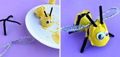 5 Ideas para hacer animales con hueveras de cartón | Manualidades Egg Carton Art, Egg Carton Crafts, Egg Crafts, Crafts For Kids, Arts And Crafts, Egg Cartons, Plastic Eggs, Kindergarten Crafts, Cardboard Tubes