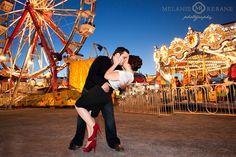 """A Romantic Engagement at the Fair."" – Kim & Adam"