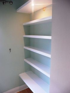The shelving I want for the awkard, open space in our kitchen