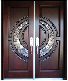 Frontal personalizado clásica de madera maciza puertas dobles-en Puertas de Puertas y Ventanas en m.spanish.alibaba.com.