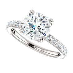 THE BEVERLY 2 FOREVER ONE MOISSANITE SOLITAIRE ENGAGEMENT RING $1995.00