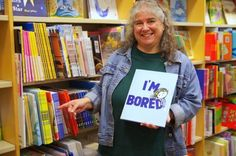 Joanne with I'M BORED at the Greece Ridge Center Barnes and Noble in Rochester, NY. Photo: John Hall