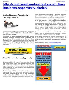online-business-opportunitynew by retrofaz via Slideshare