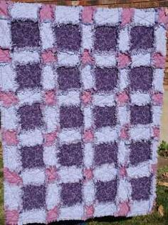Rag Quilt Patterns Free | Loving Lavender Rag Quilt pattern free shipping