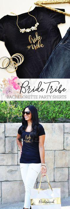 Bride Tribe Shirts Bachelorette Shirts Bachelorette Party Shirts by ModParty Bachelorette Party Decorations, Bachelorette Party Shirts, T Shirts For Women, Bride, Trending Outfits, Etsy, Tops, Fashion, Wedding Bride