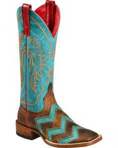 Anderson Bean Boots Macie Bean Wave on Wave Cowgirl Boots - Square Toe