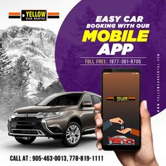 Yellow Car Rental provides airport pickup Car and Van Rental services in Toronto & Vancouver at affordable prices. Rent any car or van & enjoy the ride Social Media Poster, Social Media Design, Graphic Design Layouts, Ad Design, App Promotion, Taxi App, Poster Background Design, Promotional Design, Poster Design Inspiration