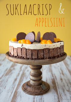 Kinuskikissa suosittelee: suklaacrisp-appelsiinikakku | Kinuskikissa | Bloglovin' Dessert Recipes, Desserts, A Food, Frosting, Cake Decorating, Sweet Tooth, Recipies, Birthdays, Cooking Recipes