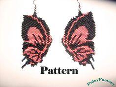 Pattern Butterfly  brick stitch earrings por FairyFactory en Etsy
