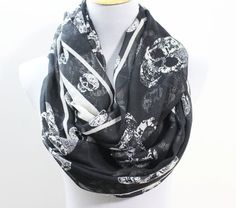 Hey, I found this really awesome Etsy listing at https://www.etsy.com/listing/126864693/skull-infinity-scarf-chunky-and-silky