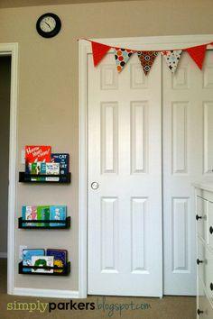 Pinterest inspired Ikea hack spice rack bookshelves $4/each via {Simply Parkers}