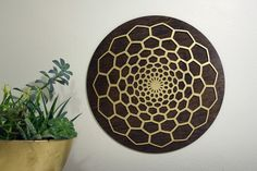Sacred Geometry Gold Mandala #WallDecor - Honeycomb