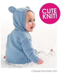 Adorable Hooded Jacket by Jenny Watson Free Pattern | Deramores