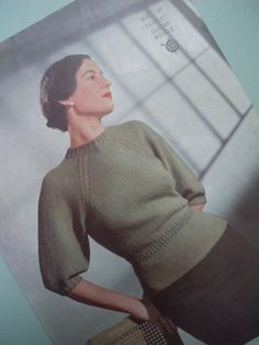 40's vintage sweater; would love to learn how to knit this!