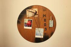 Pinnwände - Memoboard Loft - ein Designerstück von Pfaennle bei DaWanda Memo Boards, Loft, Industrial, Wall, Etsy, Home Decor, Round Round, Decoration Home, Lofts