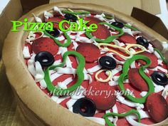 sweet and delicious Pizza Cake, Cakes And More, Caprese Salad, Bakery, Birthday Cake, Cookies, Breakfast, Sweet, Desserts