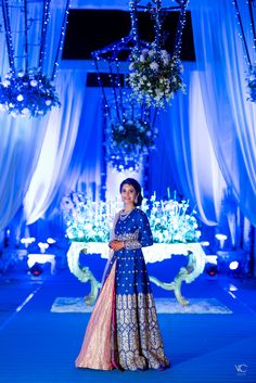 Royal Blue Banarasi Lehenga
