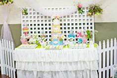 couture themed birthday parties for boys | Garden Themed Party by 3's A Party Events and Party Supplies