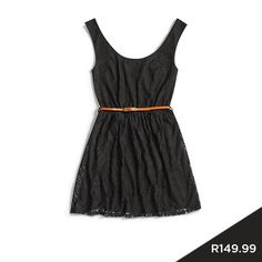 Black lace never goes out of style - wear it in this fun, flirty tunic. #dress #lace #black