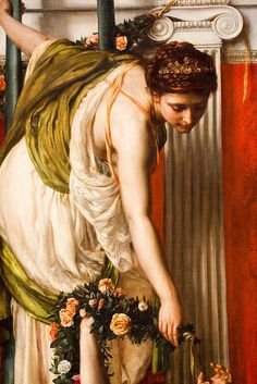 "Detail from Edward John Poynter's ""The Festival"", 1875"