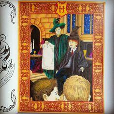 Done ^^ #johannabasford #harrypotter #harrypottercolouringbook #adultcoloring #coloringbook #coloredpencils #derwentpencils #derwent