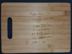 Custom engraved cutting board for Kelleys from 3DCarving on Etsy