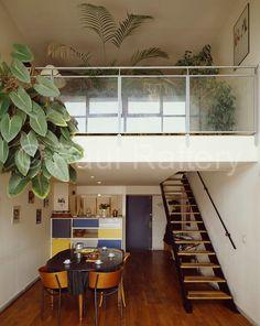 Maisonette interior seen from balcony, Unité d'Habitation Interior Stairs, Apartment Interior, Interior And Exterior, Interior Design, Le Corbusier, Lofts, Modern Buildings, Interior Architecture, Design Salon