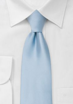 Solid color tiesLight blue necktie