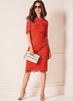 Lace Shift Dress #kaleidoscope #occasionwear