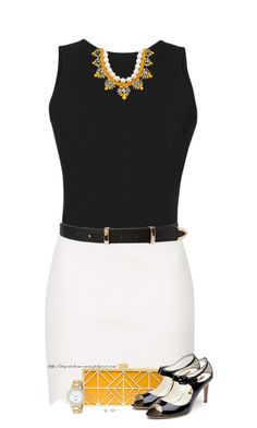 """""""Scallop Hem Mini Skirt"""" by stay-at-home-mom ❤ liked on Polyvore featuring Martin Grant, Topshop, Darya London, Forever 21, Tory Burch, Rupert Sanderson, Carolee and Kate Spade"""