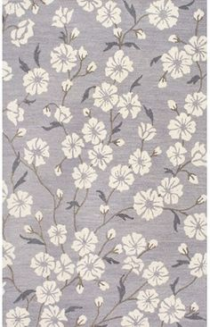 291 Gardeana BT01 Hand Tufted Wool Blossoming Branches Rug