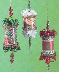 spool ornaments by nokidsjustcats, via Flickr