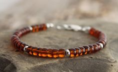 baltic amber and bali style sterling silver bracelet, custom sizes, made to order #spiralriver