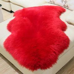 HUAHOO Genuine SheepSkin Rug Real Sheepskin Blanket Natur...