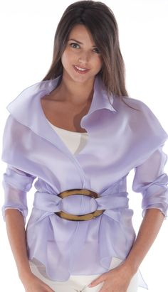 LILAC Handmade Silk Organza Jacket by ChicEffortlessLife on Etsy