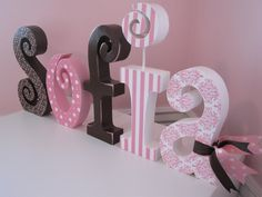modge podge wooden letters | keep thinking I should add a cute flower somewhere...and maybe a ...