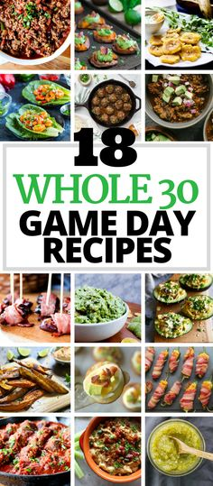 These 18 Whole30 Game Day Recipes are perfect for the Super Bowl or any game day! Appetizers, dips, & chili!