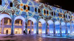 Large scale architectural projection mapping Qasr Al Hosn