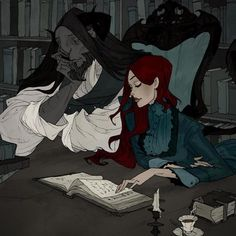 Beauty & the Beast Artwork by Abigail Larson Gothic Art, Gothic Beauty, Dark Fantasy, Fantasy Art, Illustrations, Illustration Art, Character Inspiration, Character Art, Beauty And The Beast Art