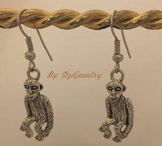tibetan style earrings, monkey, earrings, antique jewelry, antique silver…