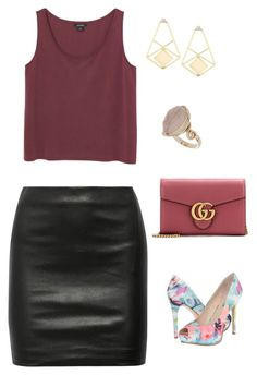 """Untitled #704"" by netteskytte on Polyvore featuring Topshop, GUESS, The Row, Monki, Gucci, women's clothing, women, female, woman and misses"