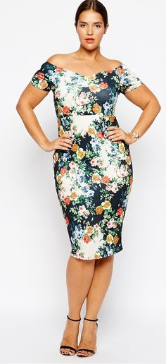 Shop ASOS Pencil Dress with Cut Out Back in Wallpaper Print. With a variety of delivery, payment and return options available, shopping with ASOS is easy and secure. Shop with ASOS today. Plus Size Fashion For Women, Plus Size Womens Clothing, Clothes For Women, Size Clothing, Plus Size Party Dresses, Plus Size Outfits, Curvy Fashion, Plus Fashion, Womens Fashion