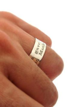 Inspirational Quote Band - Custom Ring for her / Him - Personalized Rings, Quote Engraved Ring