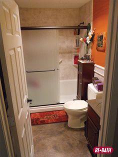 Bathroom Storage Space Helps A Small Bathroom Stay Organized #Bathroom #Remodel #ReBath