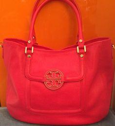 Tori Burch Leather Tote Bag 4e6f1c4a5be76