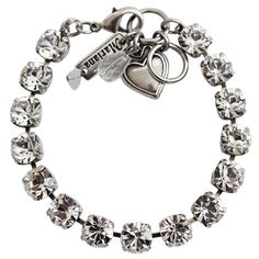 """Mariana Silver Plated Classic Shapes Swarovski Crystal Bracelet, 7"""" Available at www.regencies.com"""