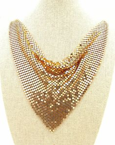 Statement Red Gold Sharp Shiny Party Wear Hot Sexy Necklace