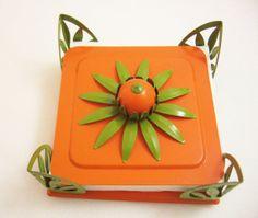 Metal Napkin Holder/Orange