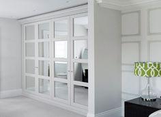 Trendy bedroom closet doors mirror walk in Ideas Walk In Closet Design, Bedroom Closet Design, Master Bedroom Closet, Bedroom Wardrobe, Closet Designs, Master Bedroom Design, Bedroom Decor, Ikea Closet Doors, Mirrored Closet Doors